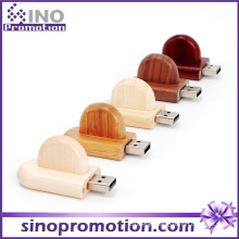 Bamboo Rounded Corner Bulk Wood USB Flash Drive